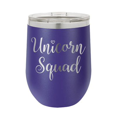 Unicorn Squad Wine Tumbler