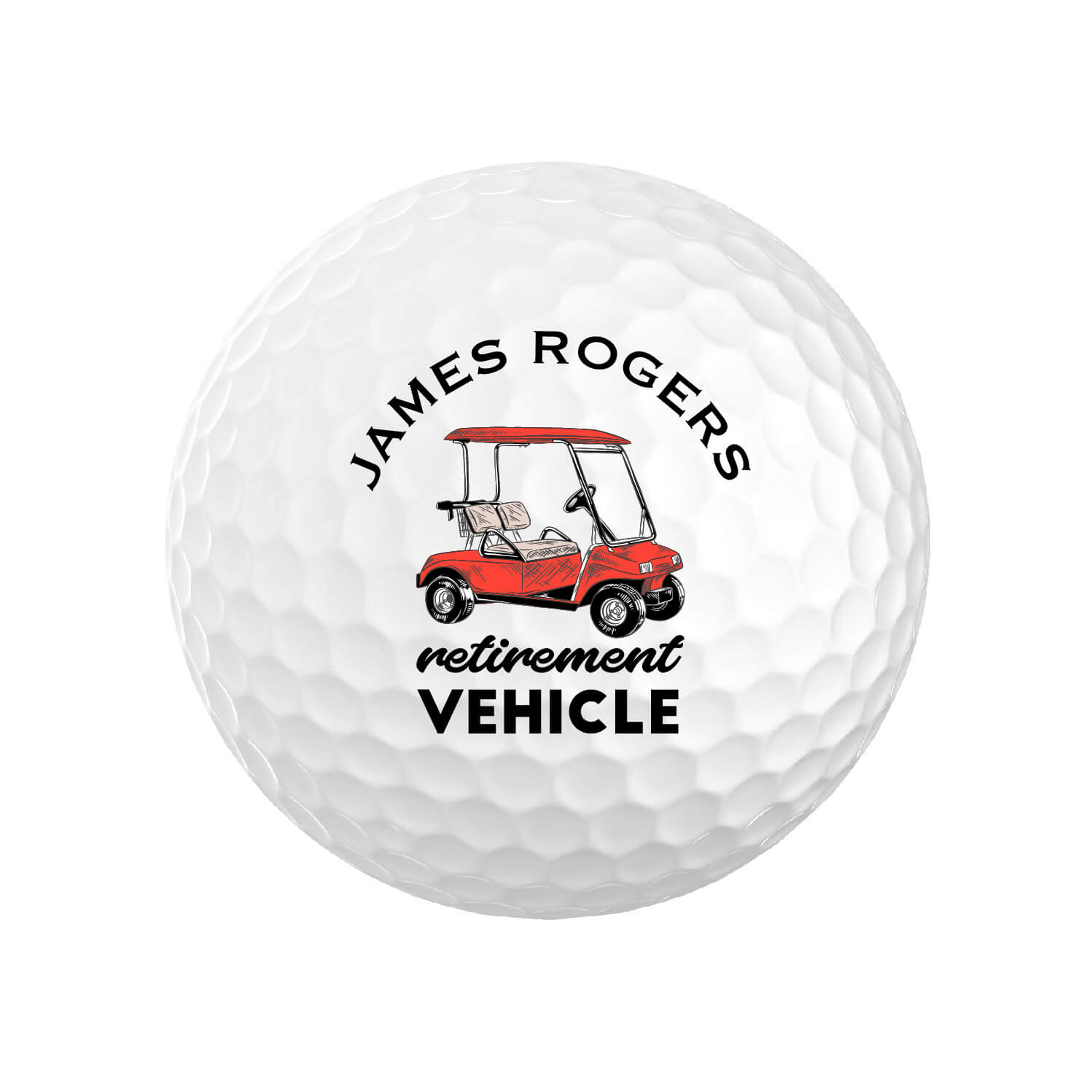 Funny Personalized Retirement Golf Balls
