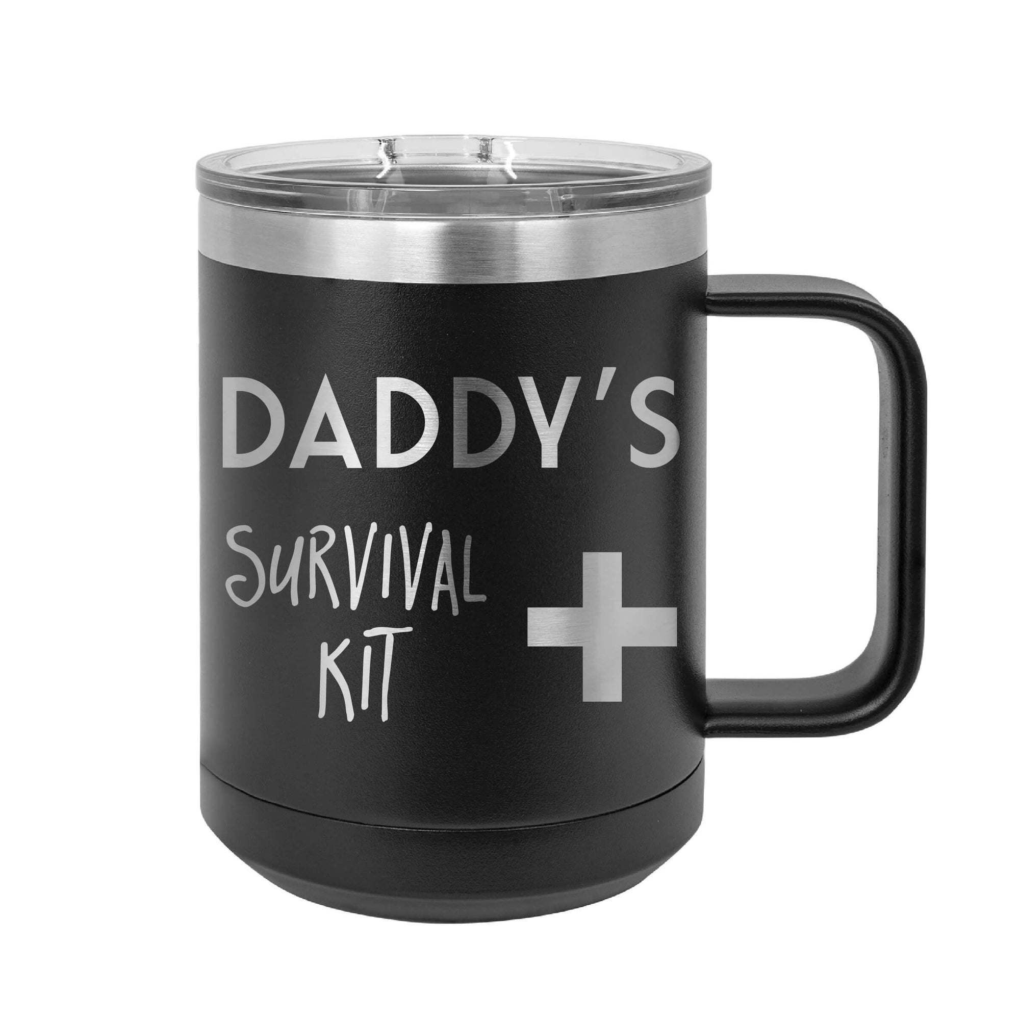 Daddy's Survival Kit Insulated Mug Tumbler