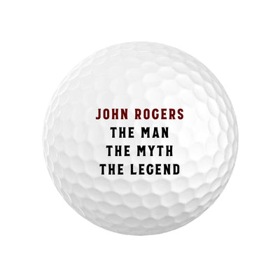 Personalized The Man Myth Legend Golf Balls