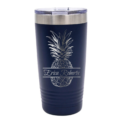 Personalized Pineapple Tumbler