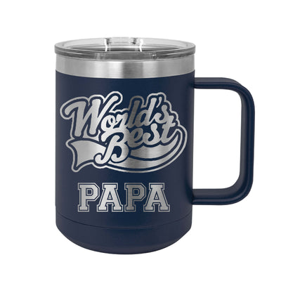 World's Best Papa Insulated Mug Tumbler