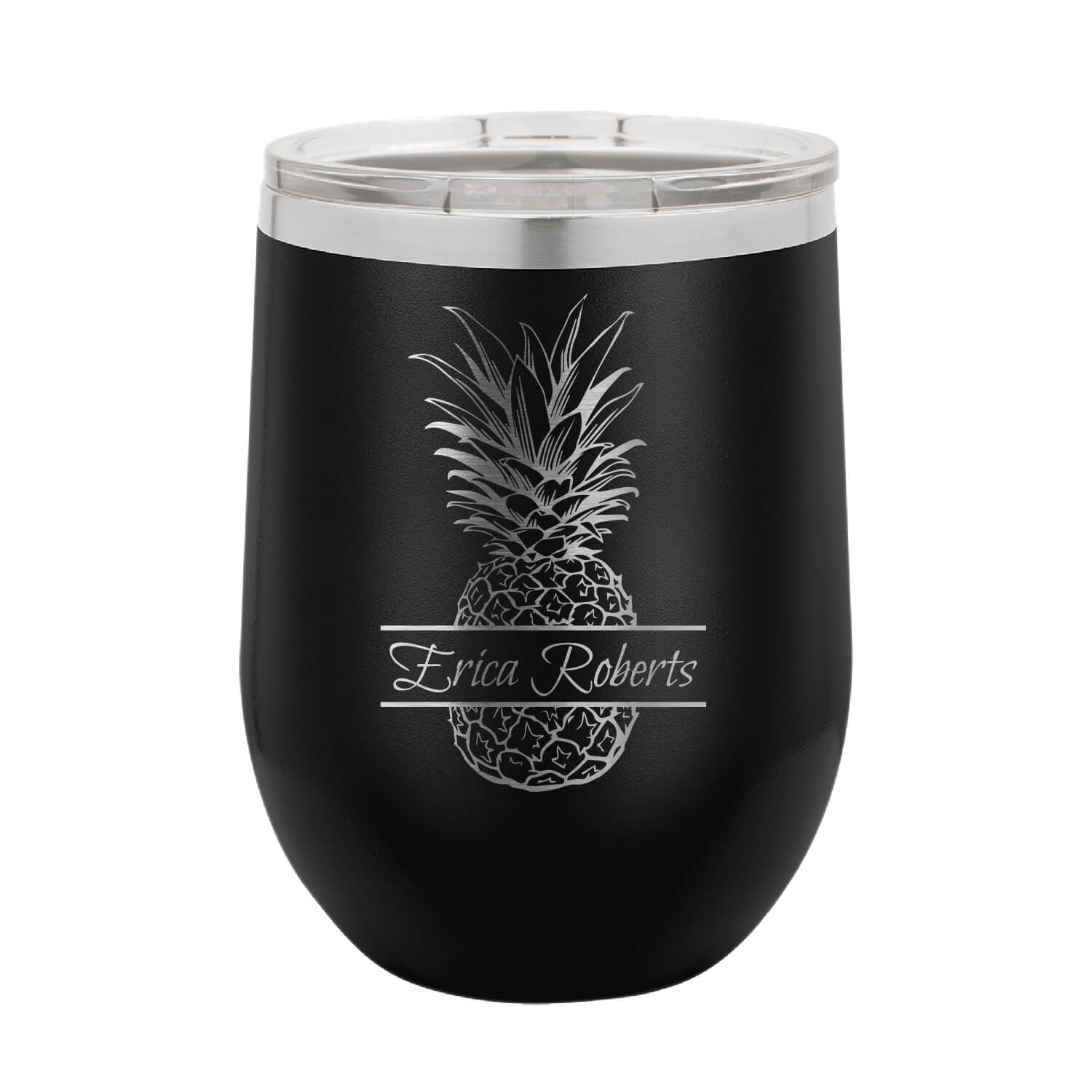 Personalized Pineapple Wine Tumbler