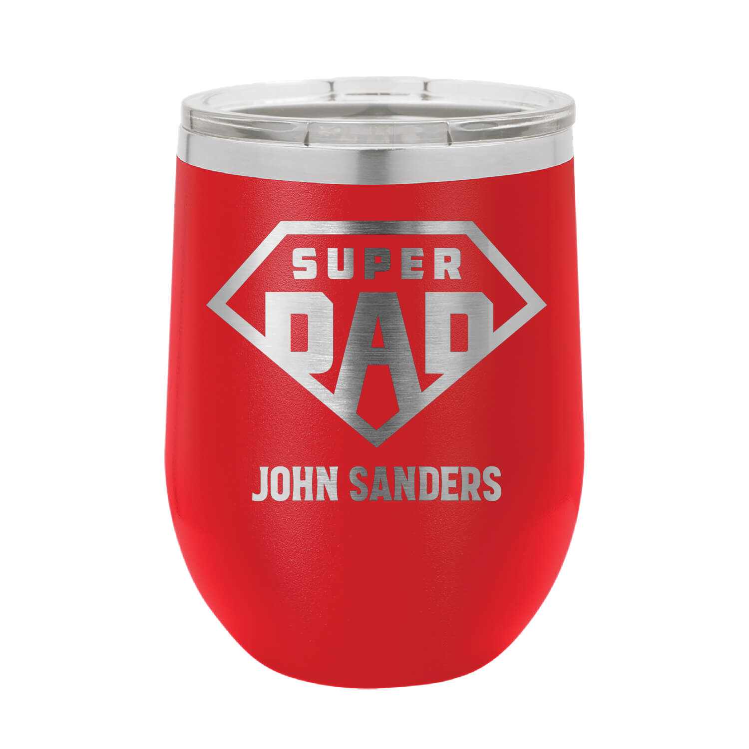 Super Dad Personalized Wine Tumbler