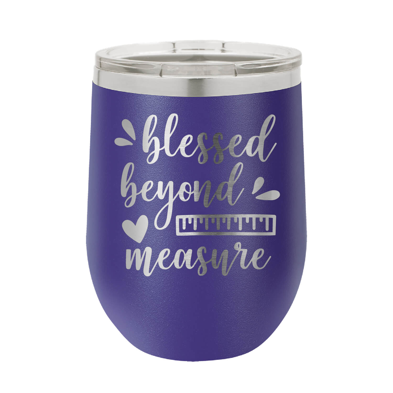 Blessed Beyond Measure Wine Tumbler