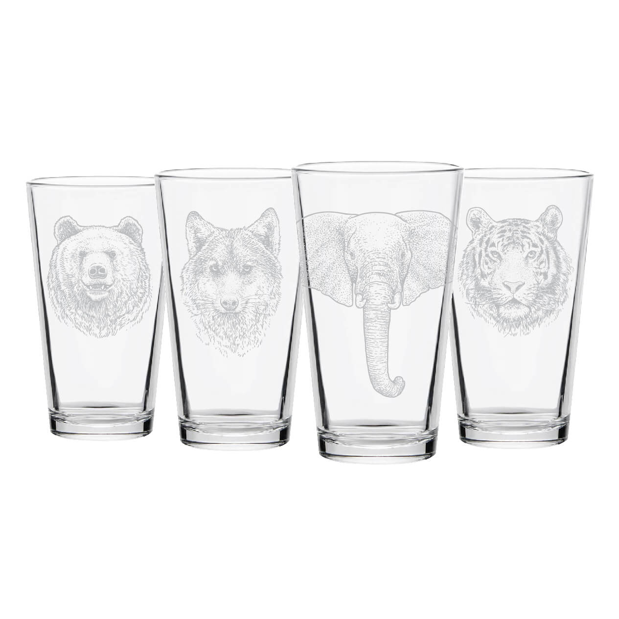 Wildlife Pint Glasses- Set of 4
