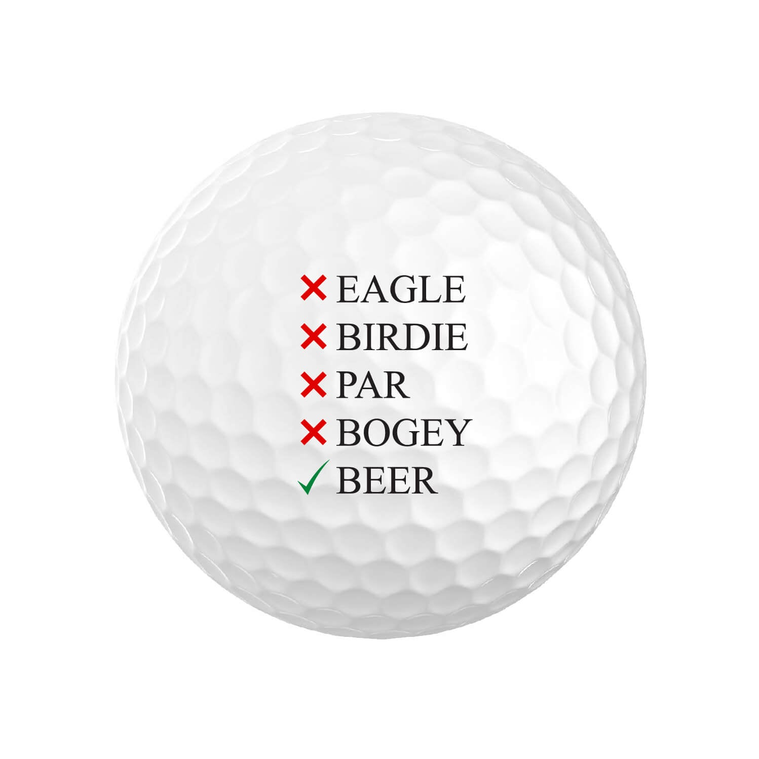 Eagle Birdie Par Bogey Beer Golf Balls