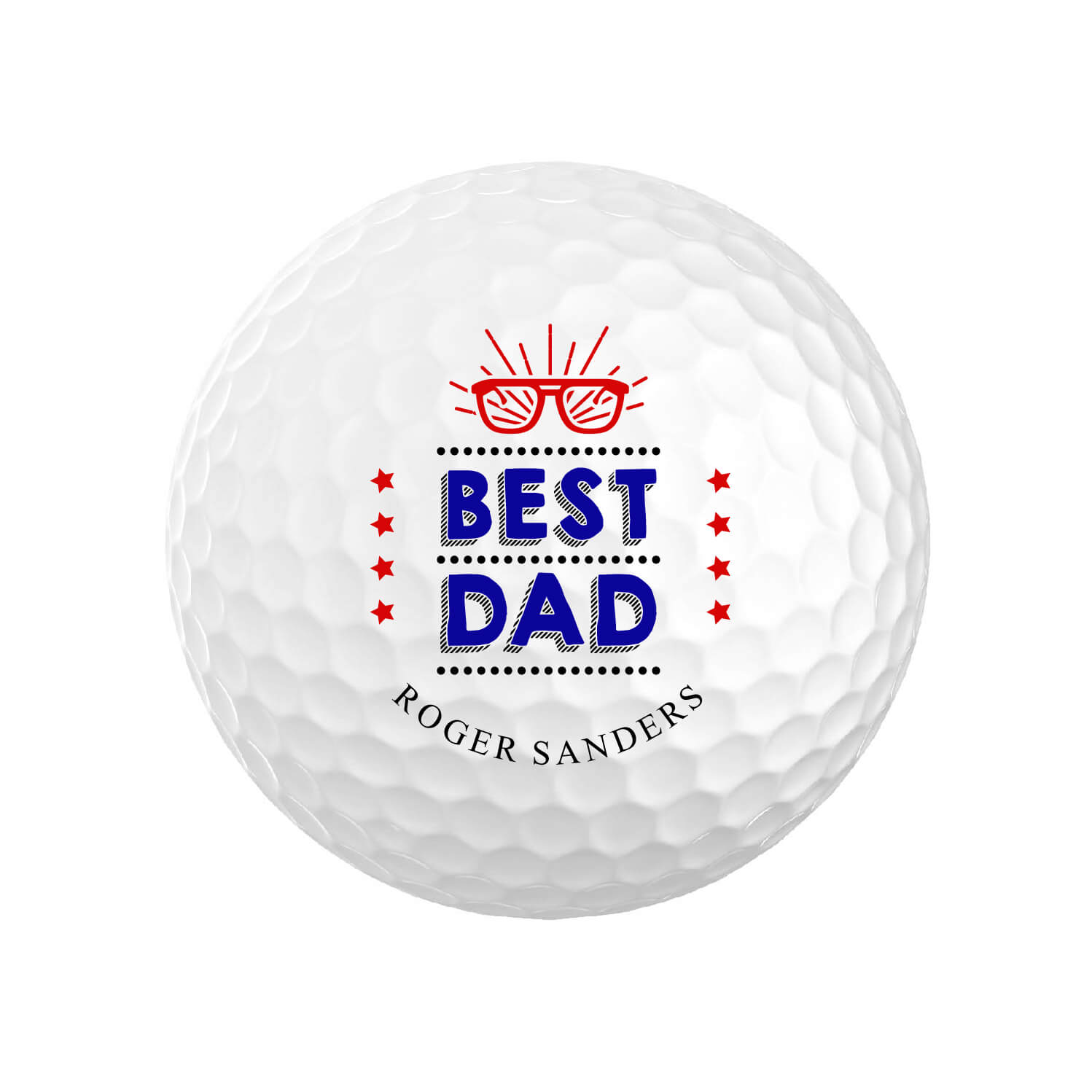 Personalized Best Dad Golf Balls