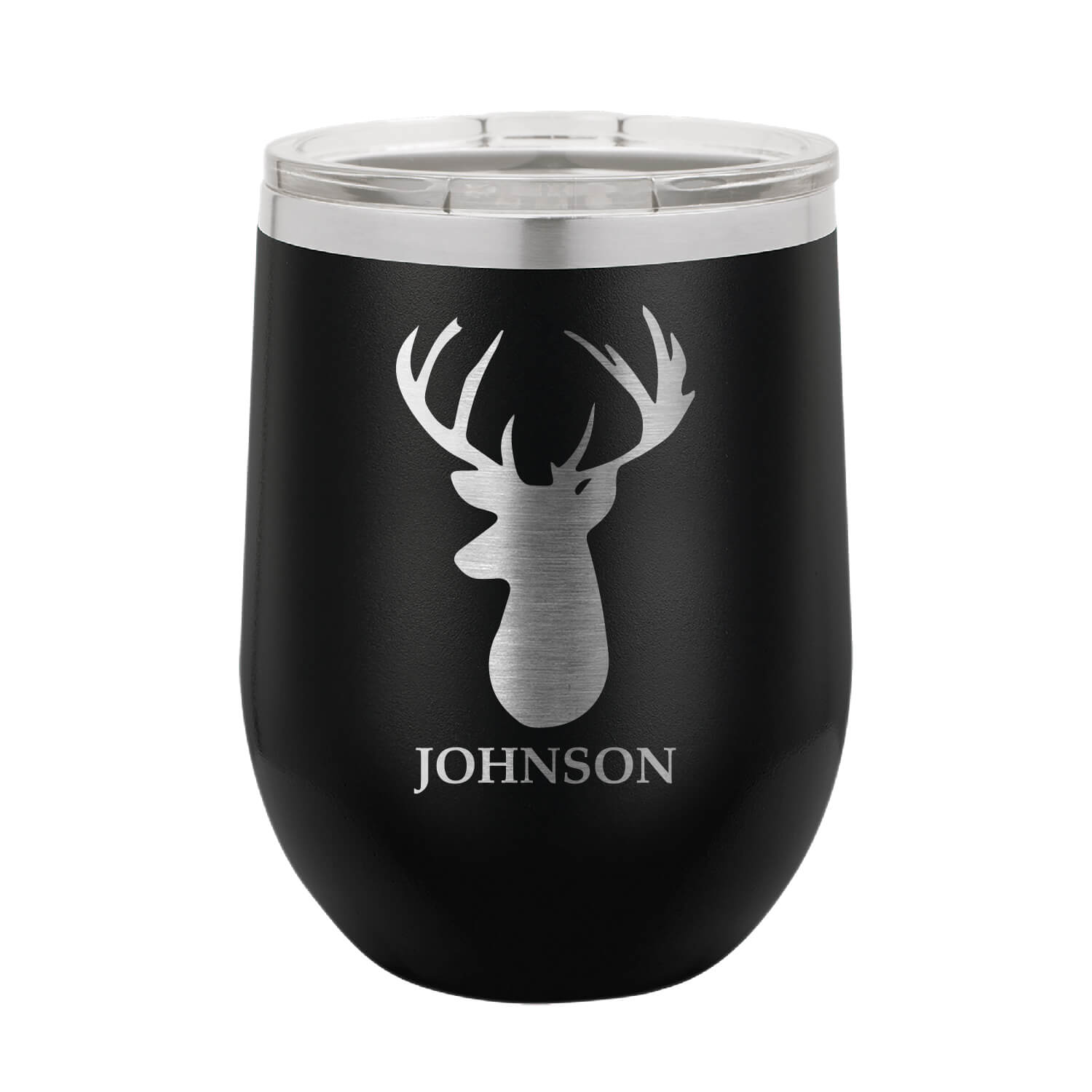 Personalized Stag Wine Tumbler
