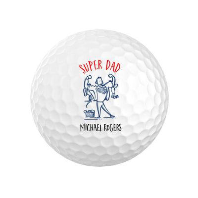 Super Dad Personalized Golf Balls