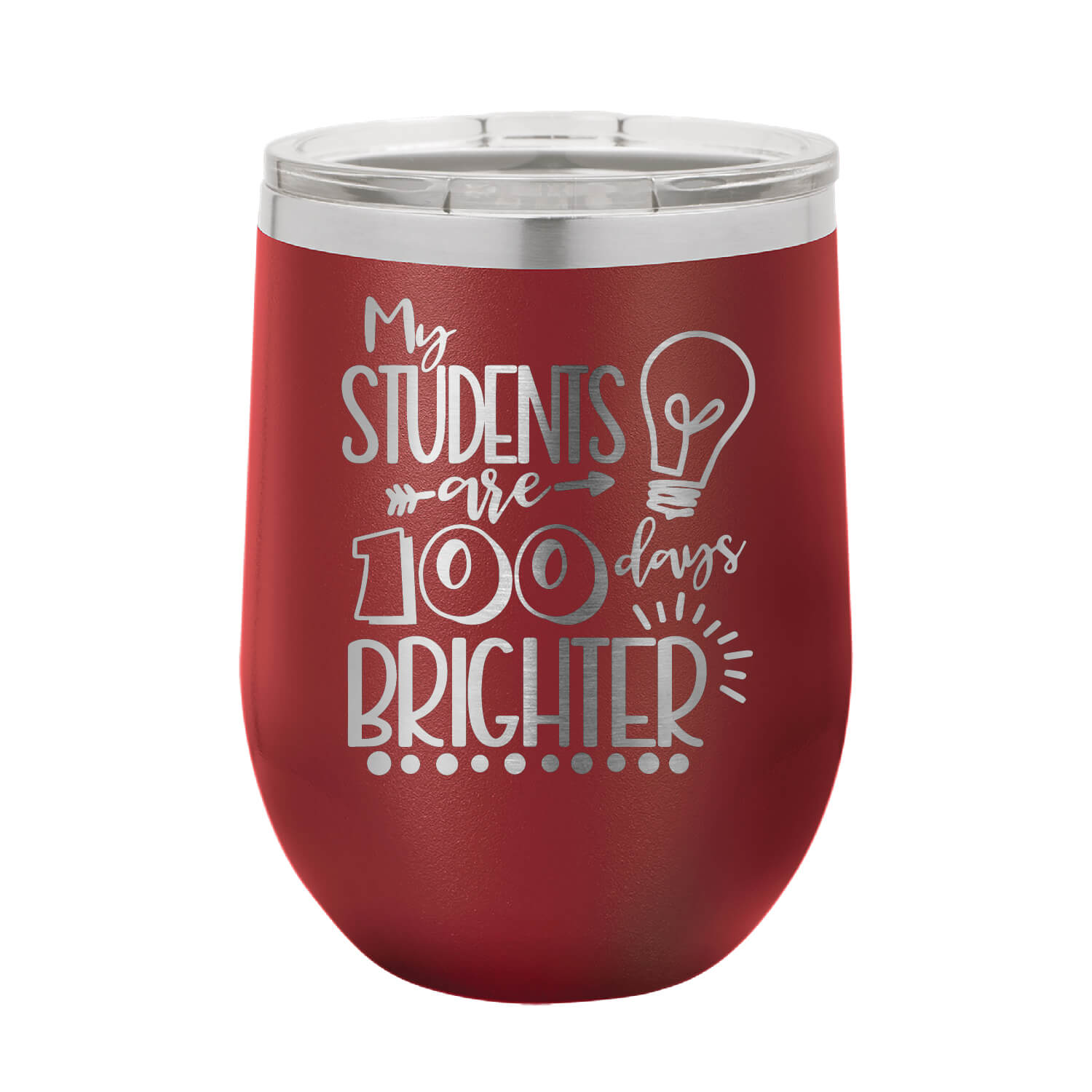 My Students Are 100 Days Brighter Wine Tumbler
