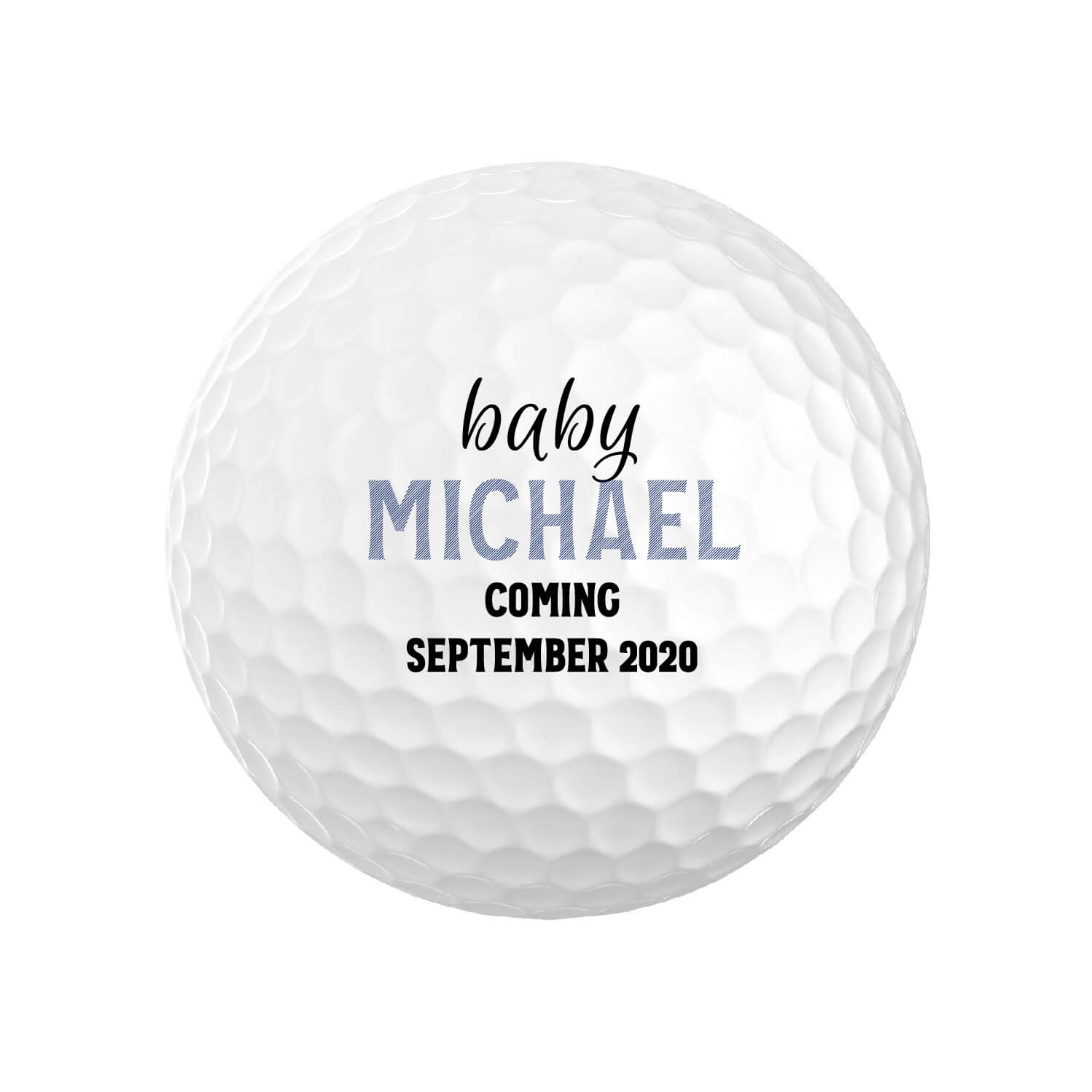 Birth Announcement Golf Balls