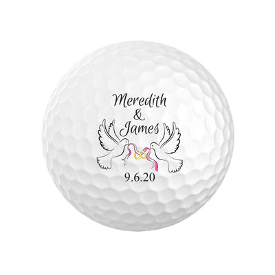 Wedding Dove Golf Balls