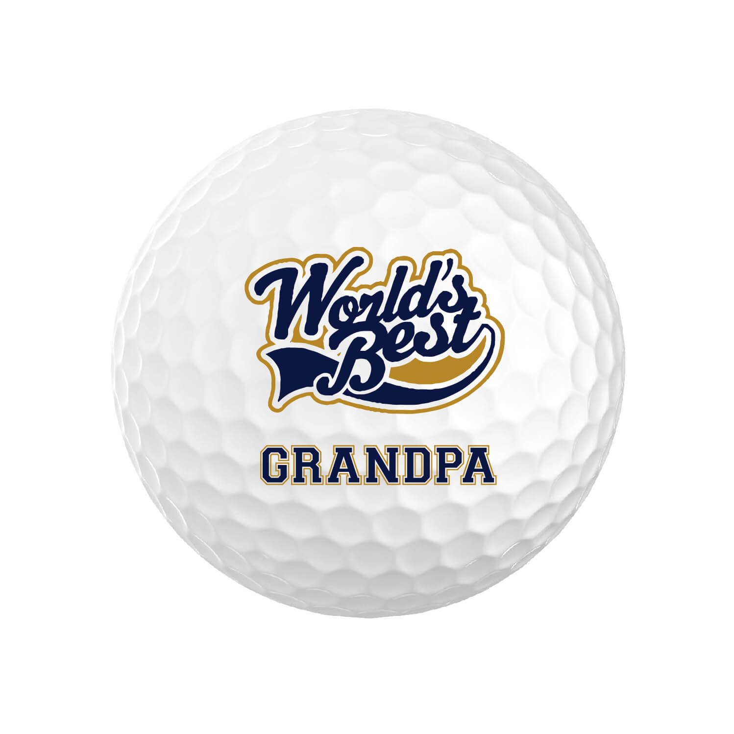World's Best Grandpa Golf Balls
