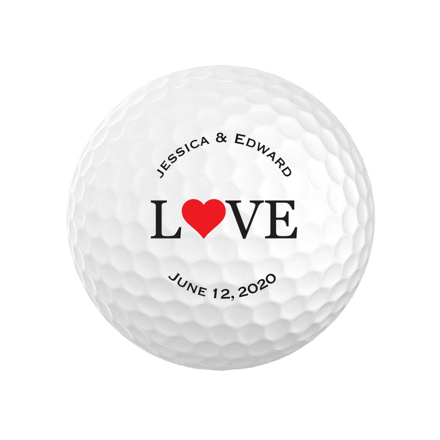 Wedding Love Golf Balls