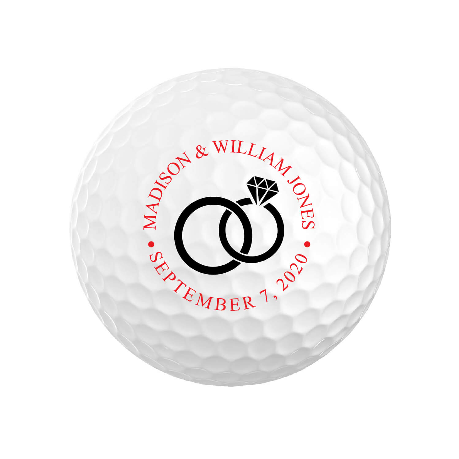 Wedding Ring Golf Balls