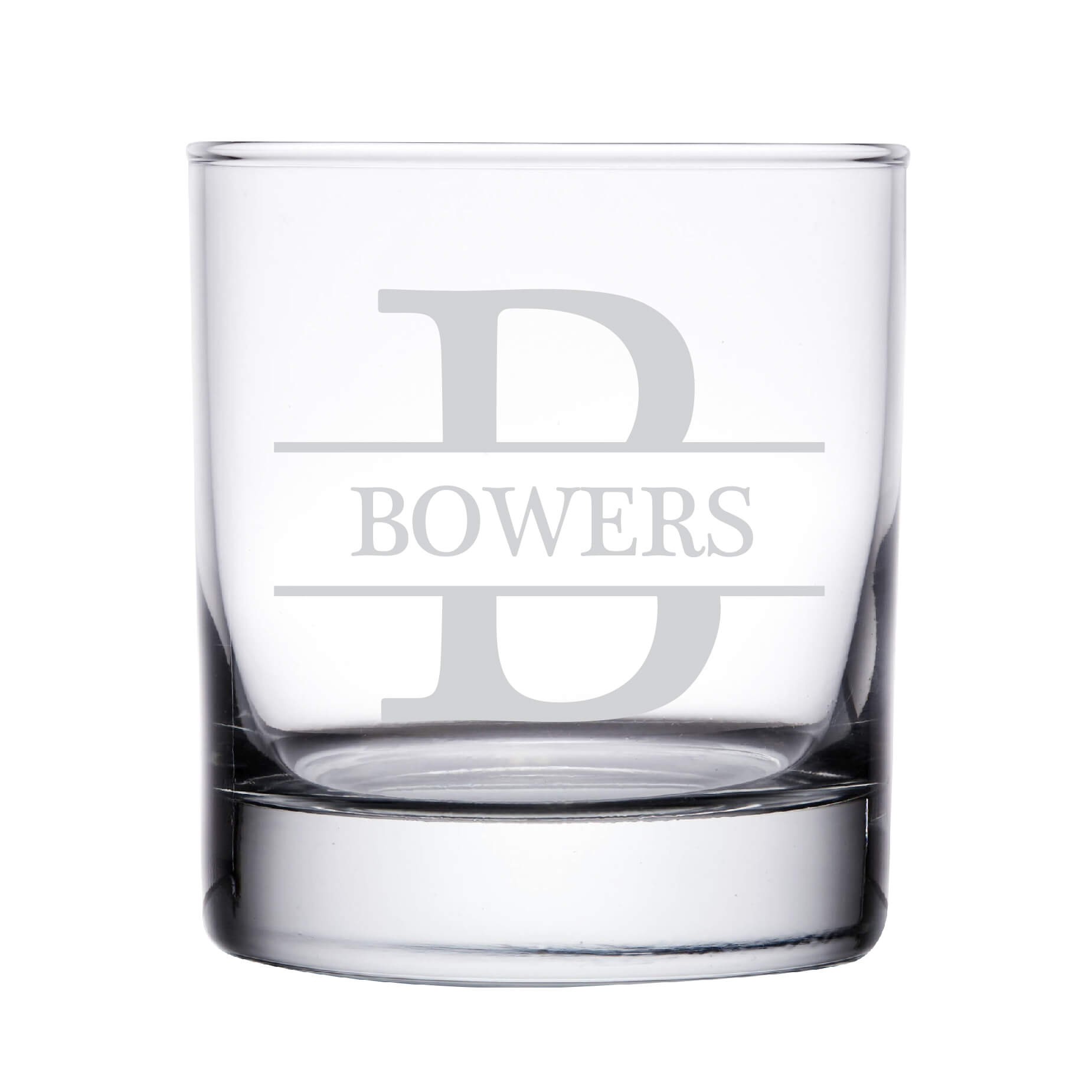 Monogrammed Personalized Whiskey Glass
