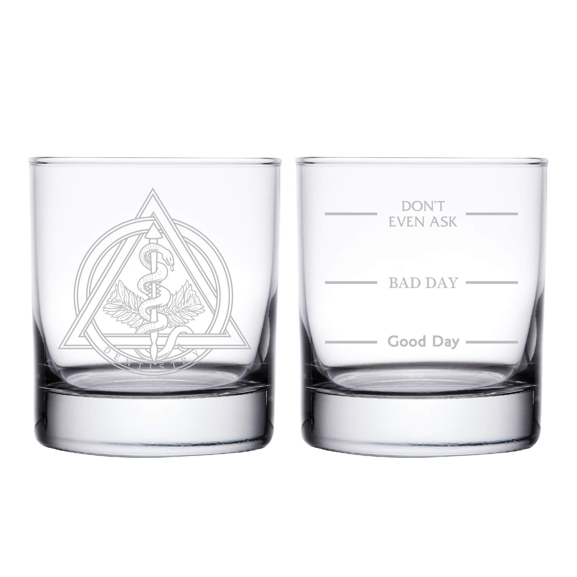 Dentistry Personalized Whiskey Glass
