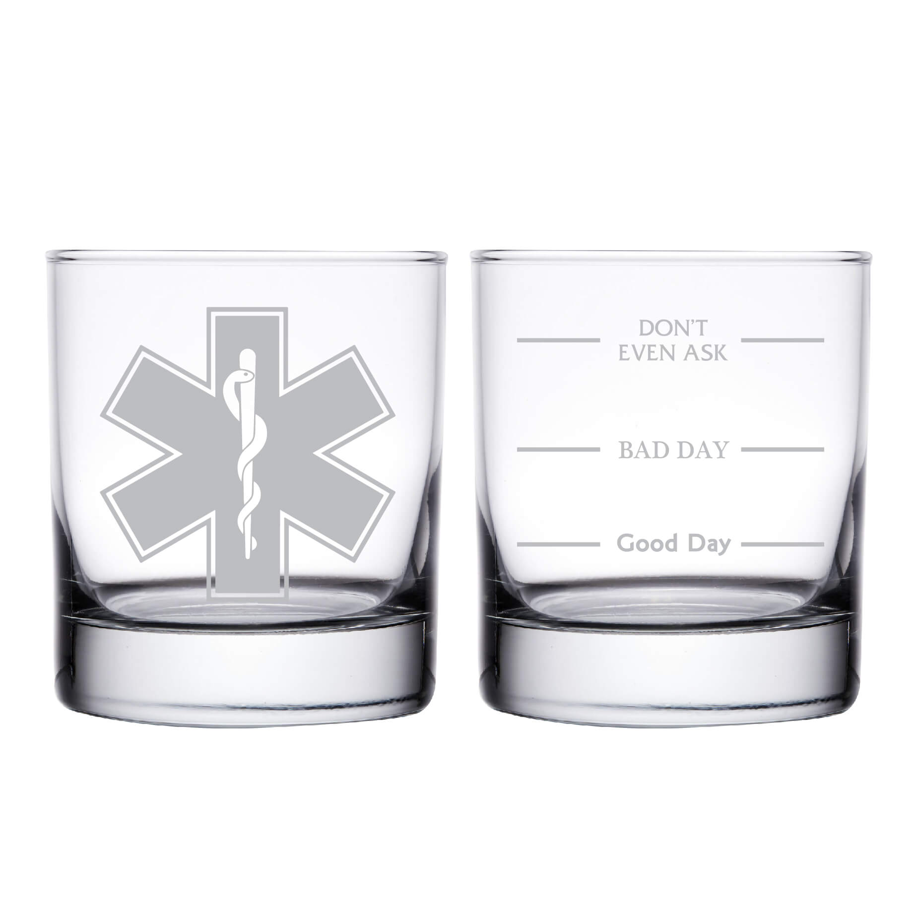 EMT Emergency Medical Technician Personalized Whiskey Glass