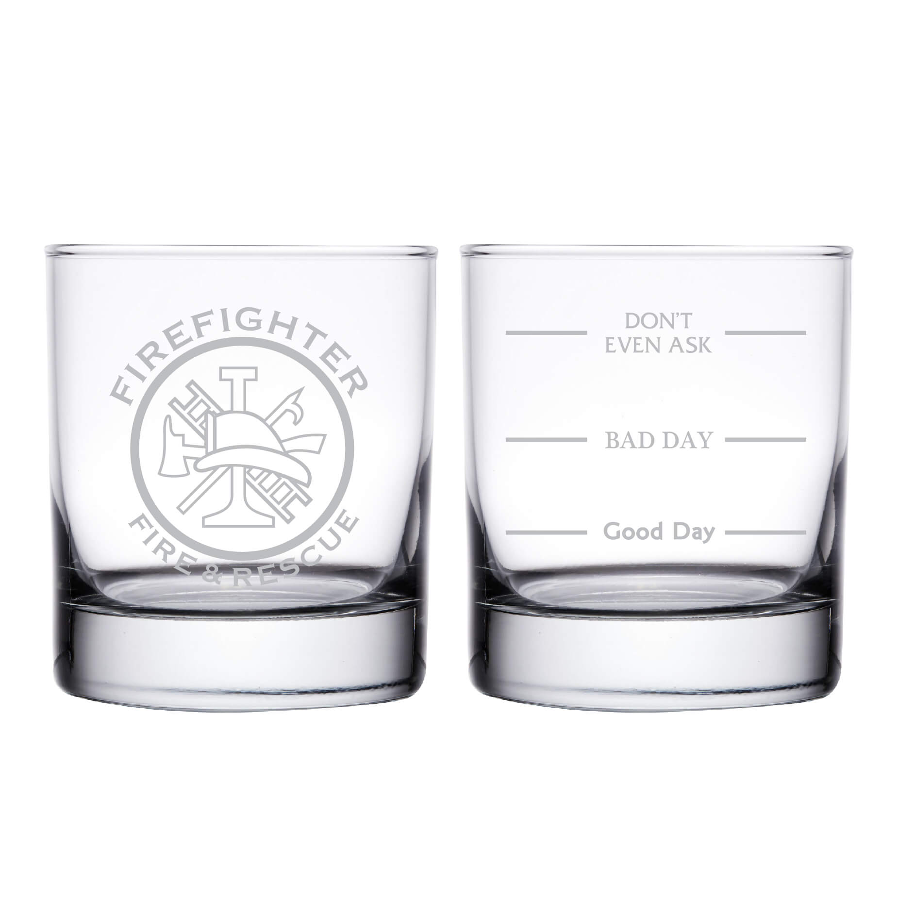 Firefighter Fire & Rescue Personalized Whiskey Glass