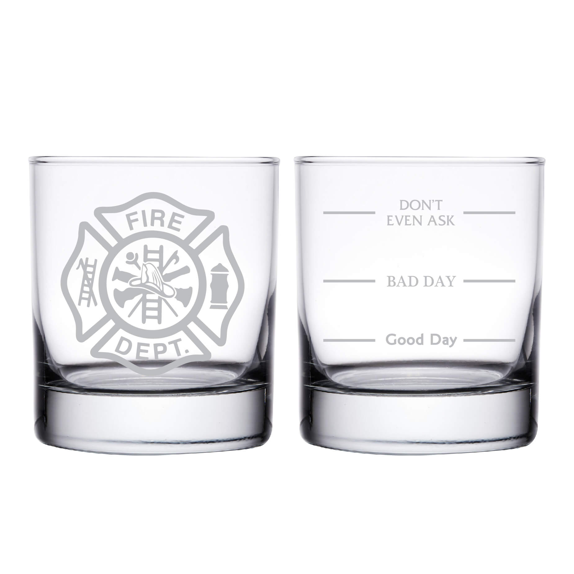 Firefighter Personalized Whiskey Glass