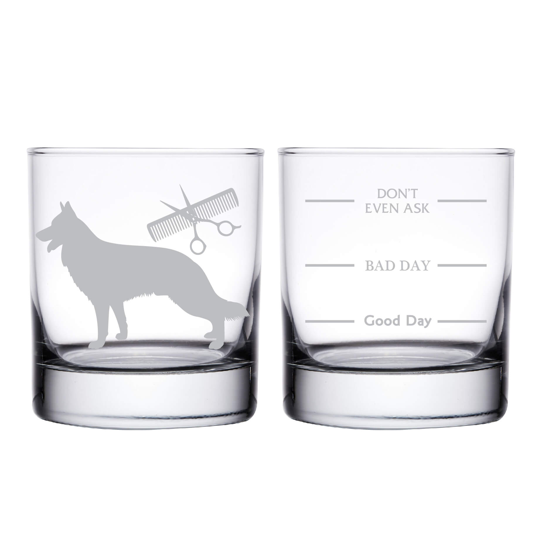 Pet Groomer Personalized Whiskey Glass