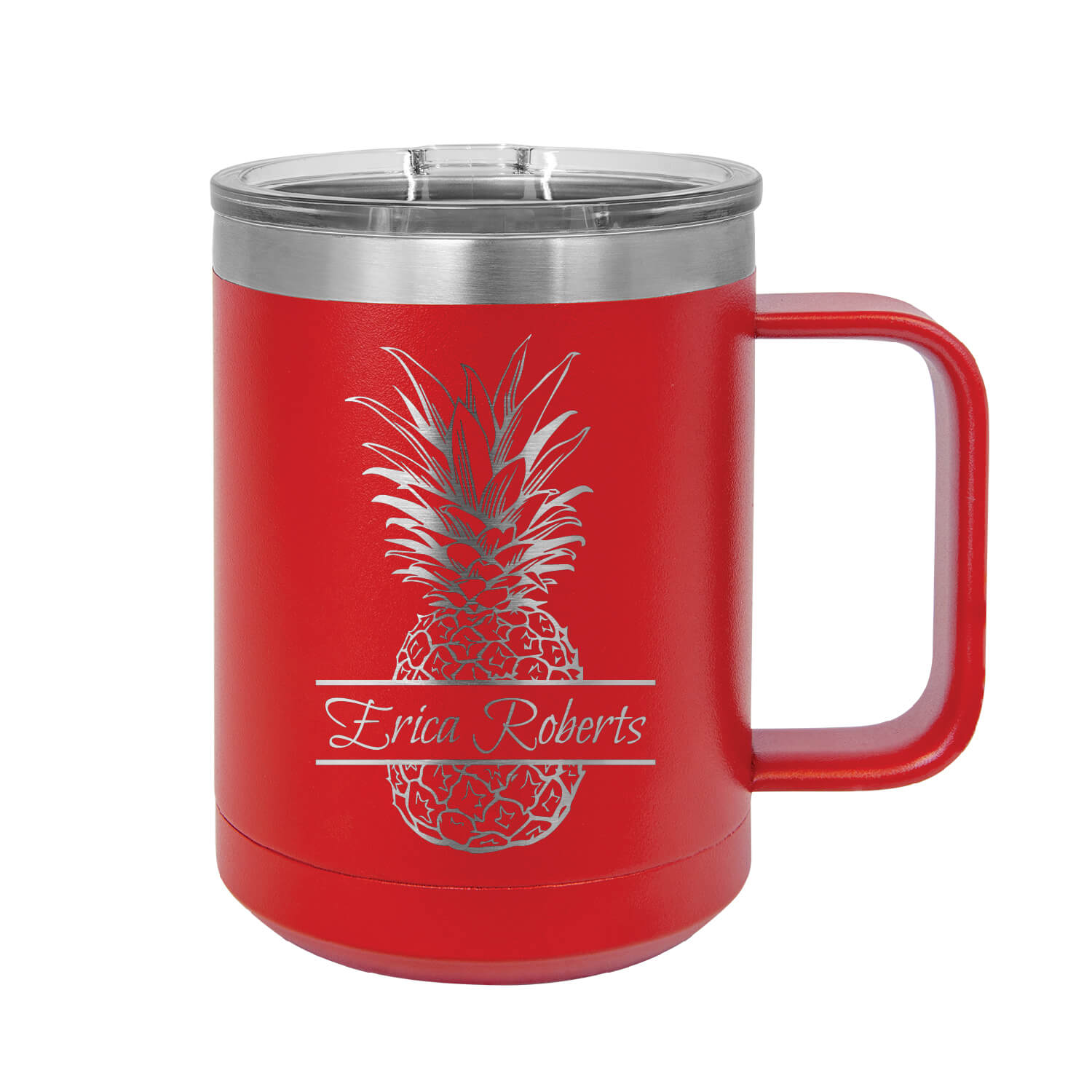 Personalized Pineapple Insulated Mug Tumbler