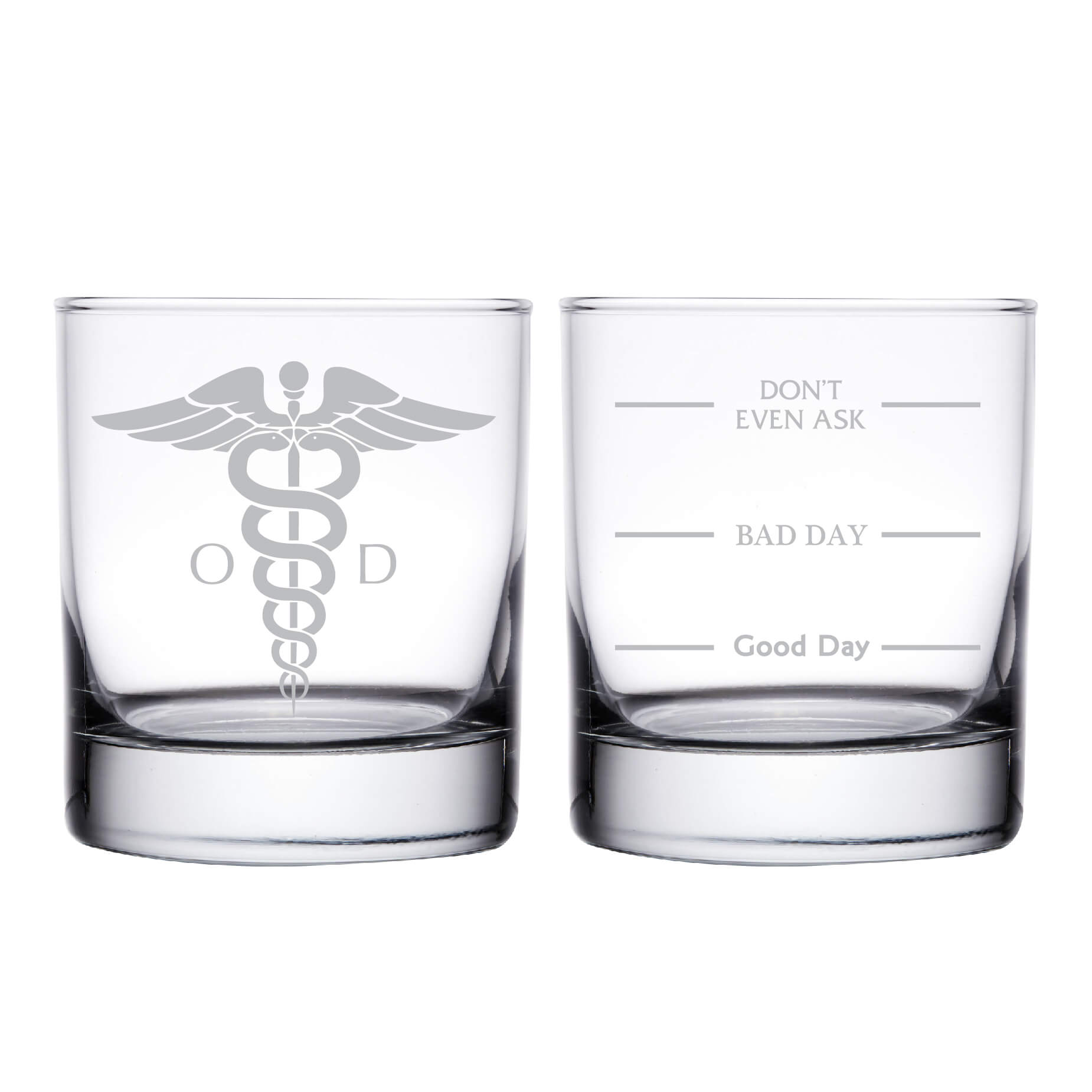 Doctor of Optometry OD Personalized Whiskey Glass