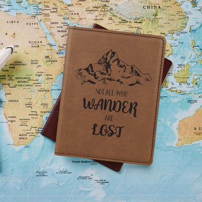 Not All Who Wander Passport Holder