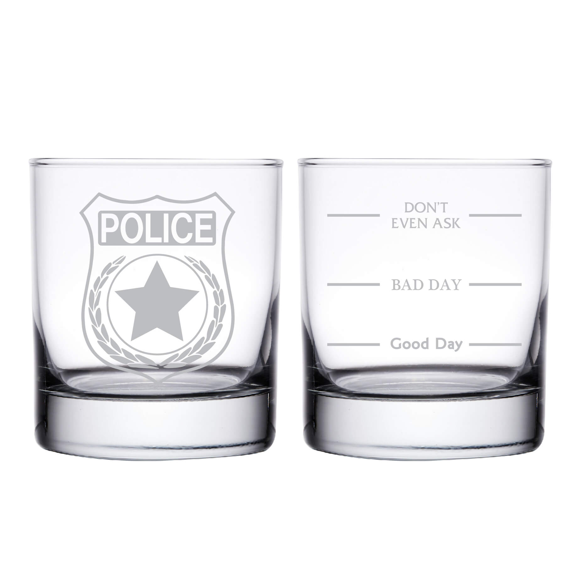 Police Officer Personalized Whiskey Glass