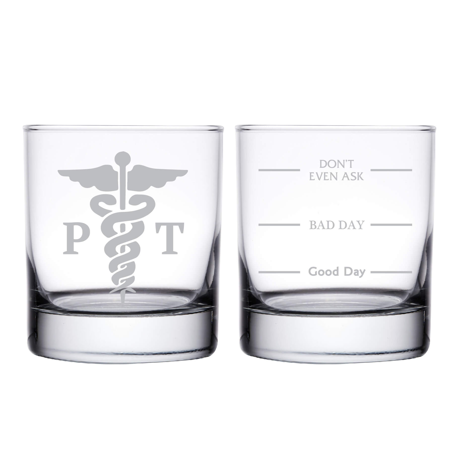 Physical Therapist Personalized Whiskey Glass