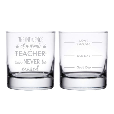 Teacher Personalized Whiskey Glass