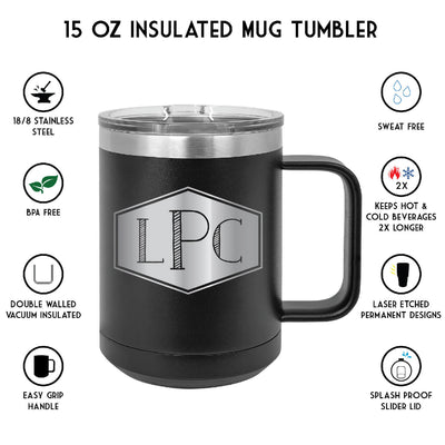 Hockey Personalized Insulated Mug Tumbler