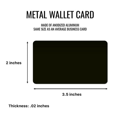 I Love You Endlessly Personalized Metal Wallet Card