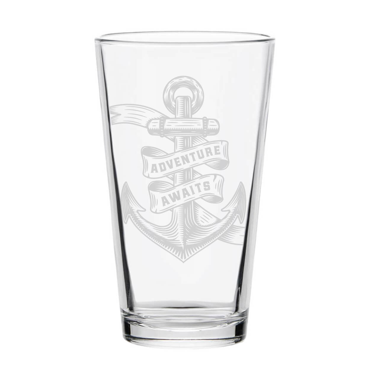 Adventure Awaits Nautical Pint Glass