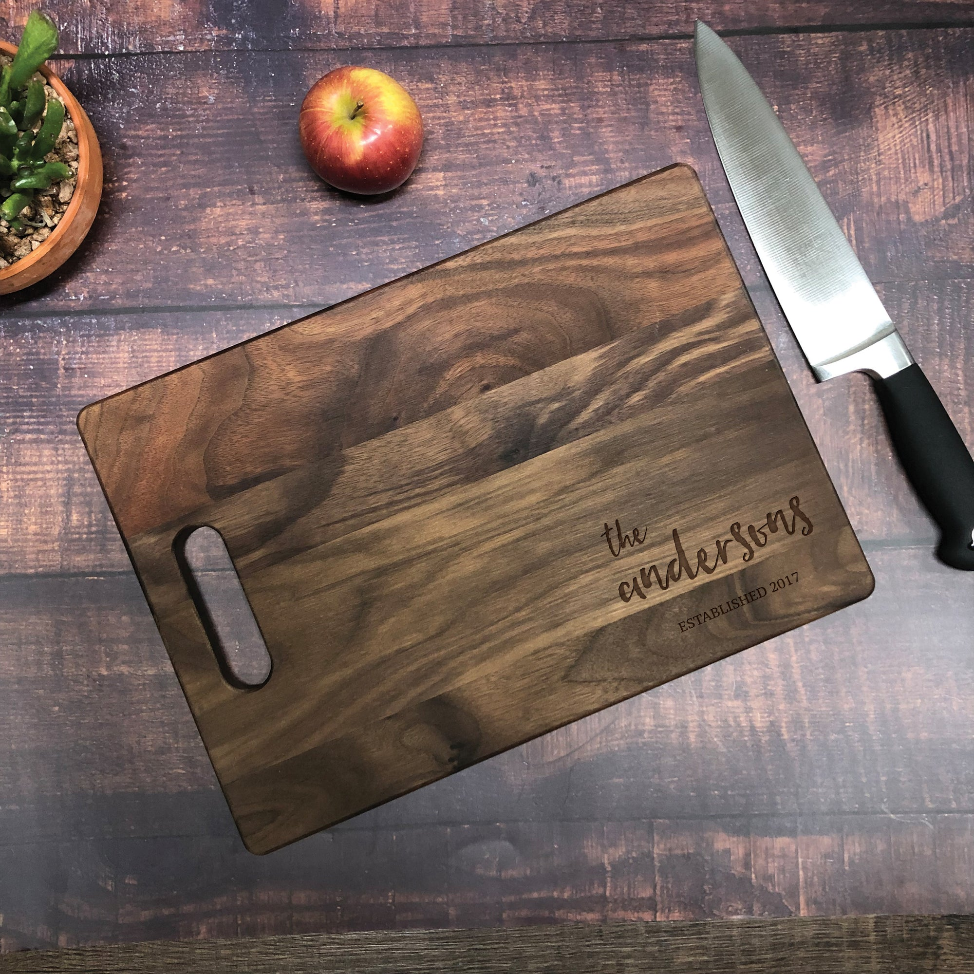 Personalized Established Name Cutting Board