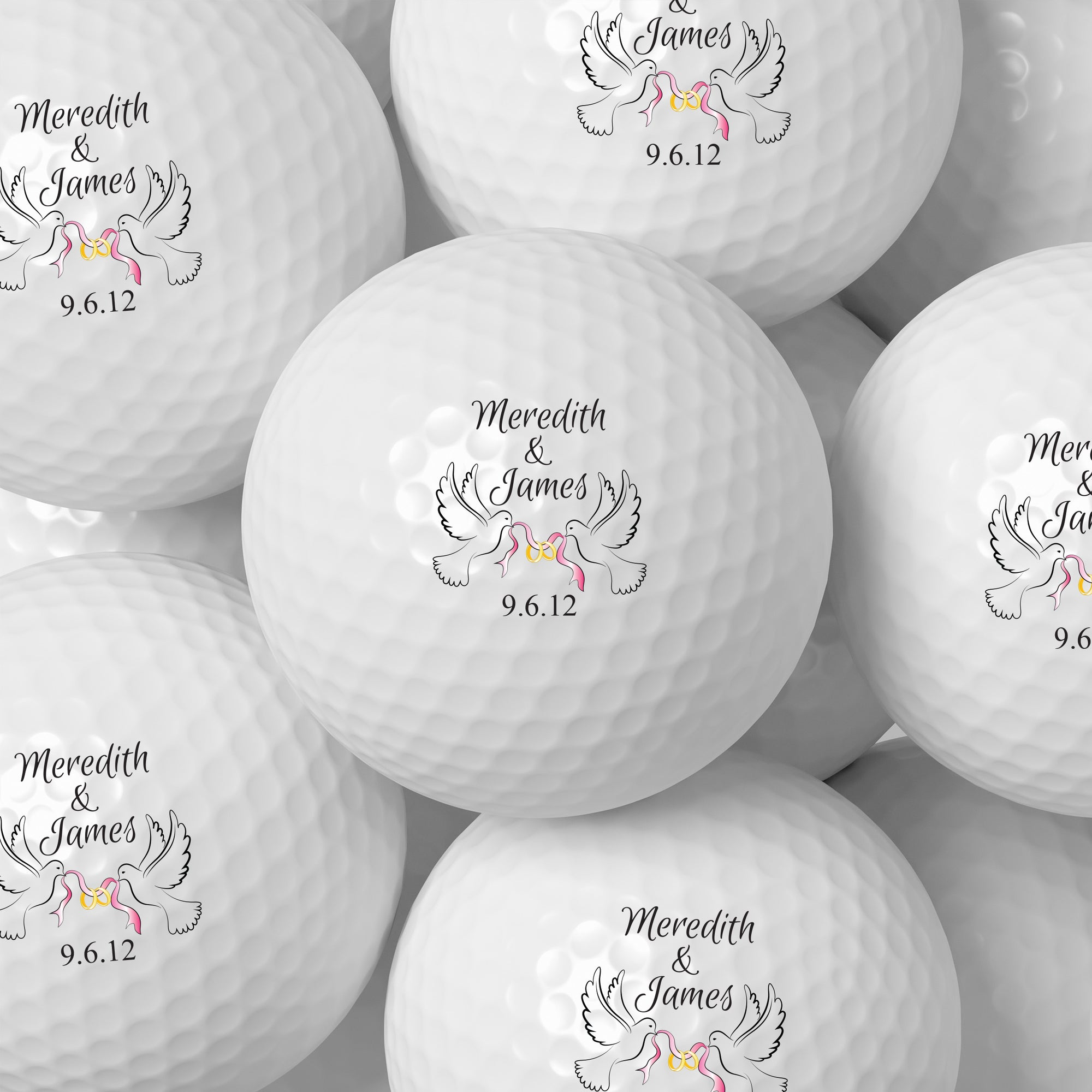 Wedding Bird Golf Balls