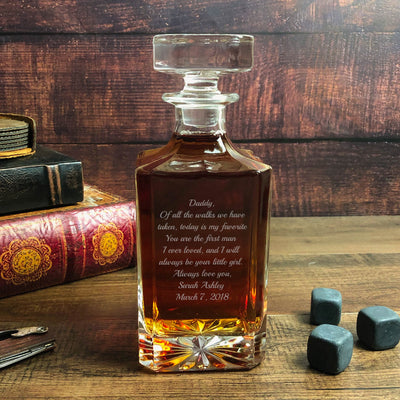 Personalized Father of the Bride Decanter