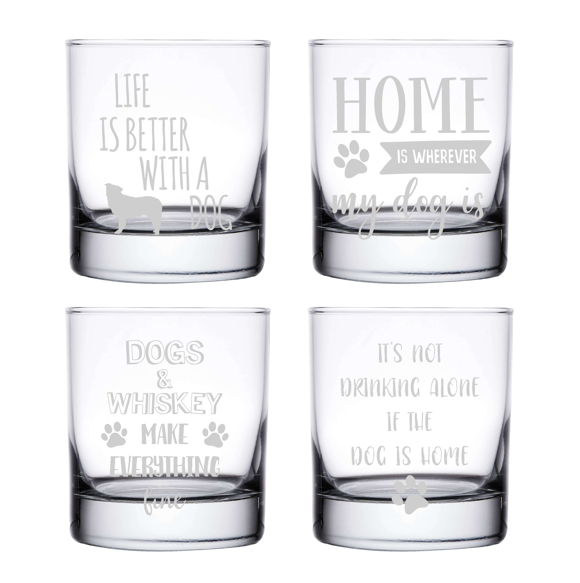 Dog Whiskey Glasses