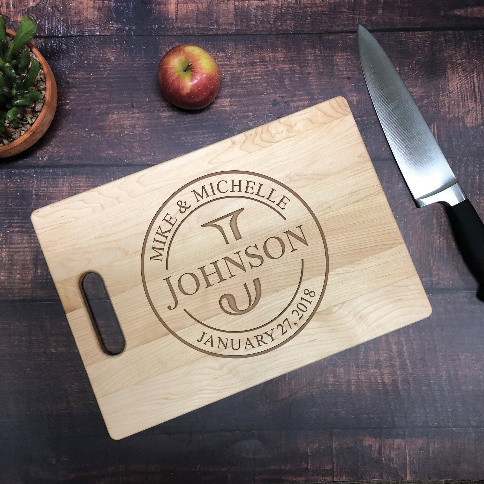 Wedding Couple Personalized Cutting Board
