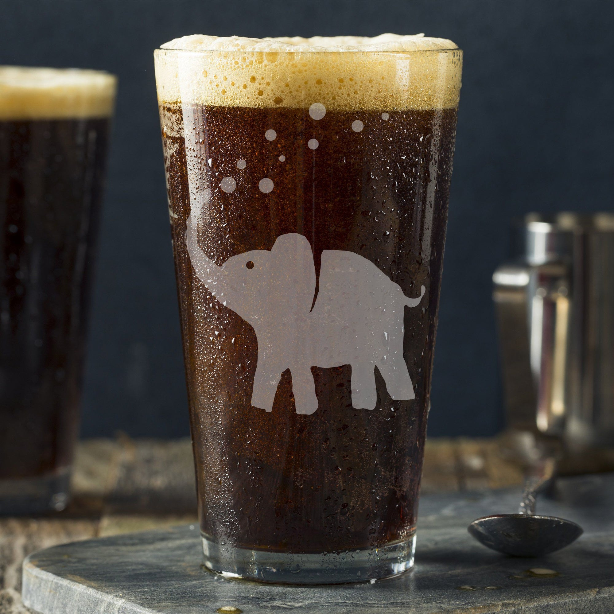Elephant Pint Glass