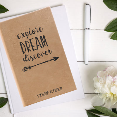 Explore Dream Discover Leatherette Journal