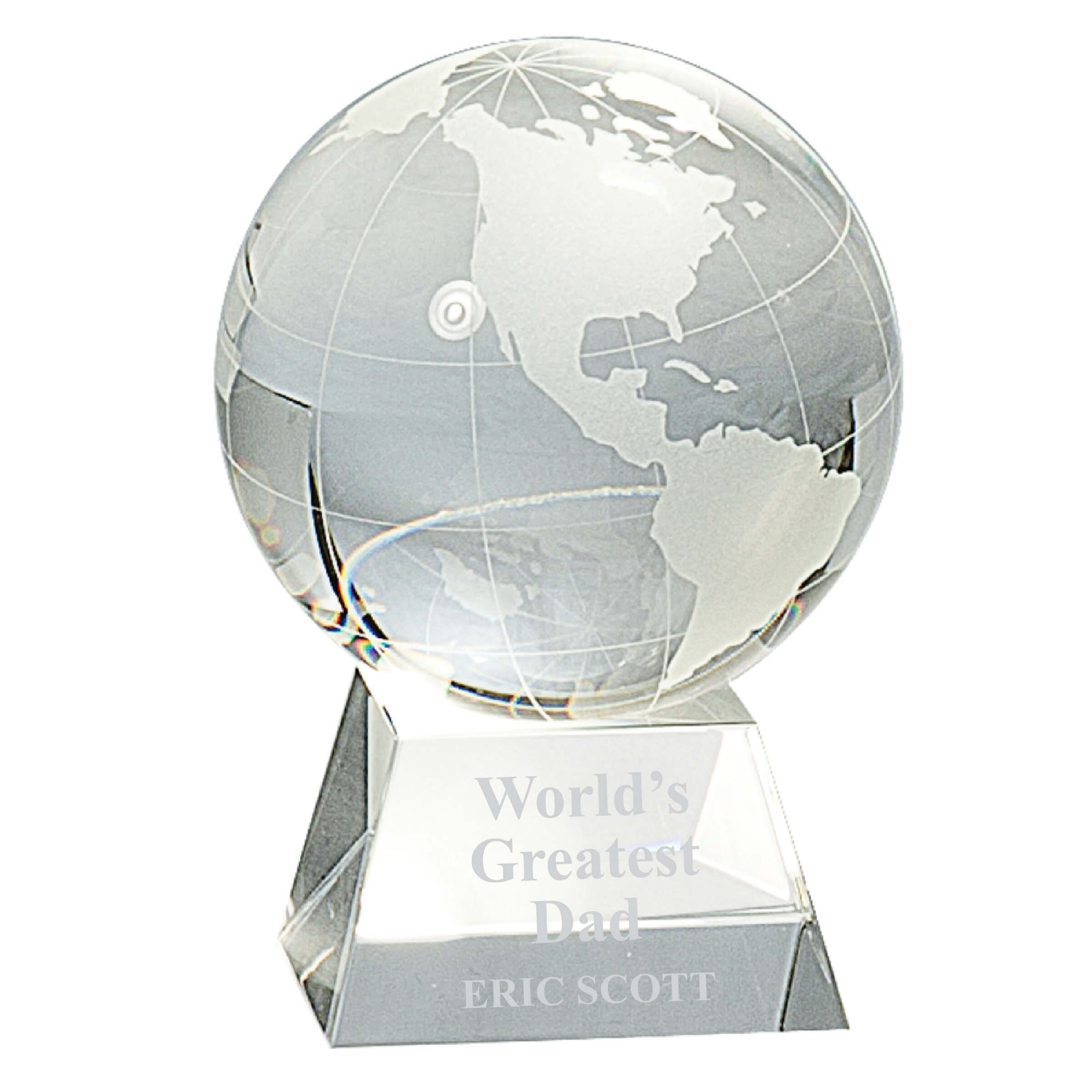 World's Greatest Dad Crystal Globe