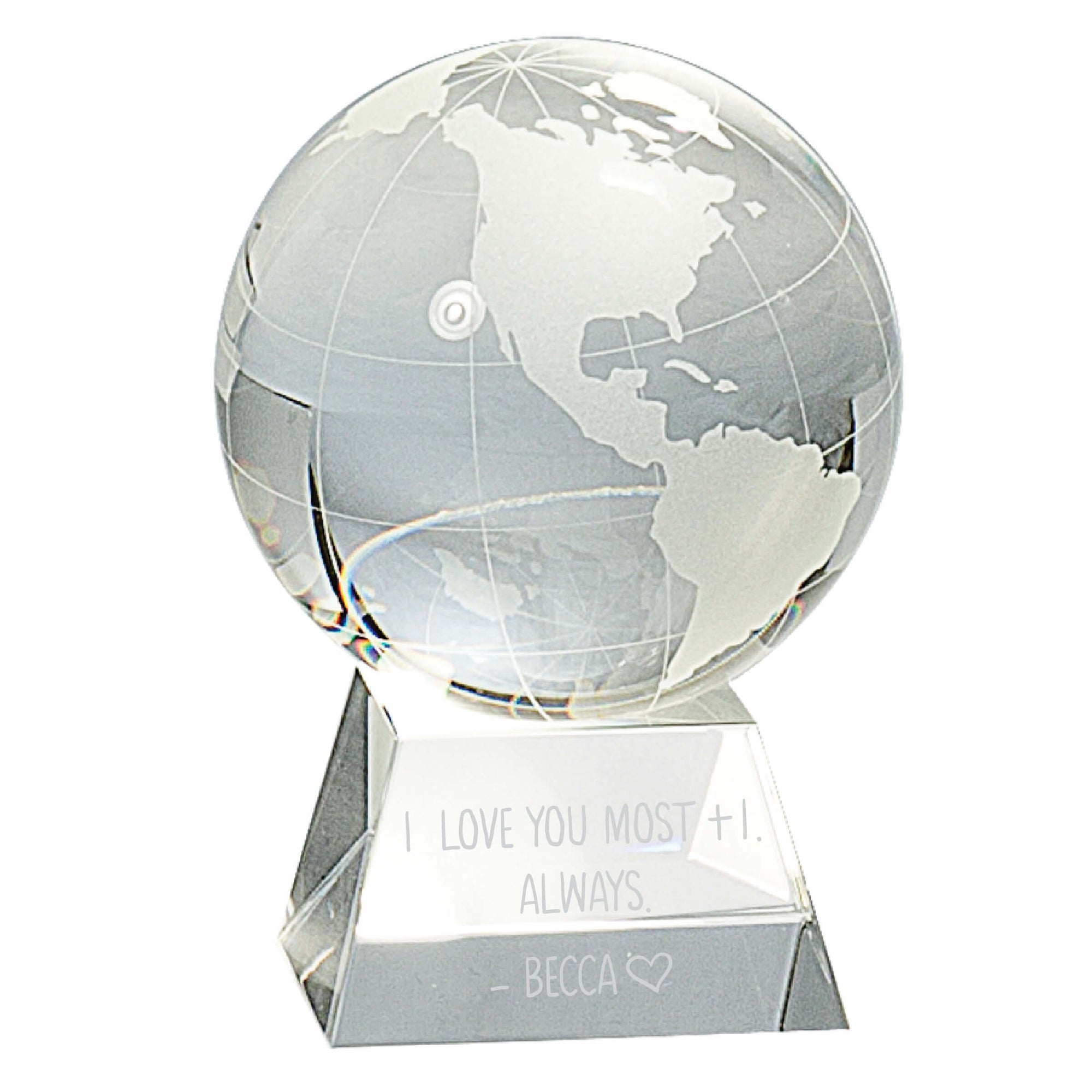 I Love You the Most Crystal Globe