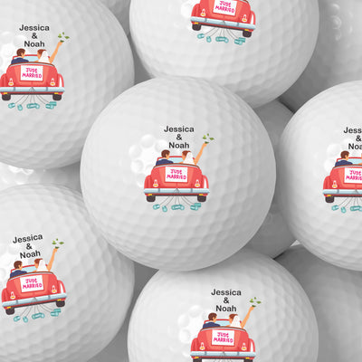 Just Married Wedding Golf Balls