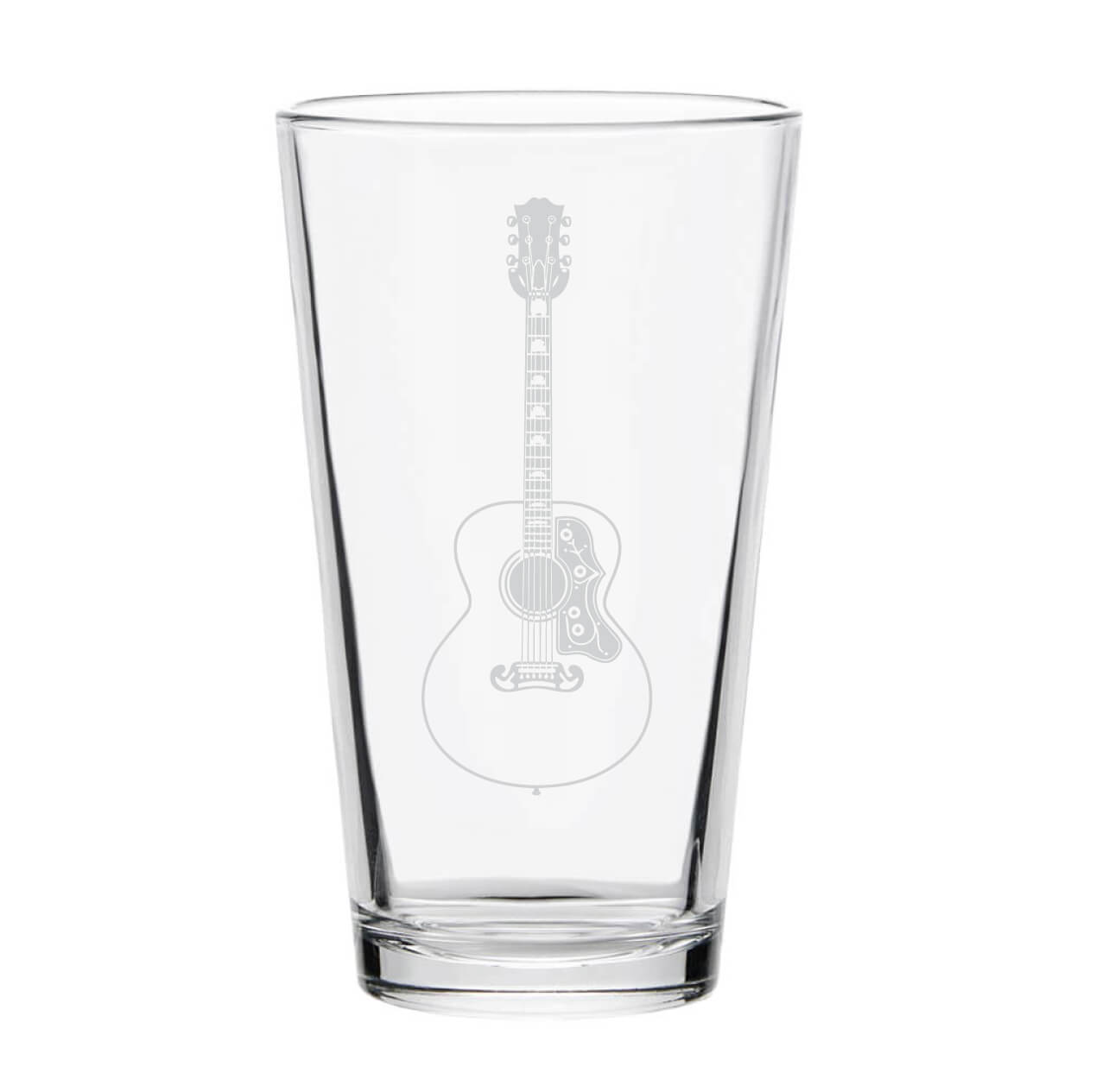 Guitar Pint Glass