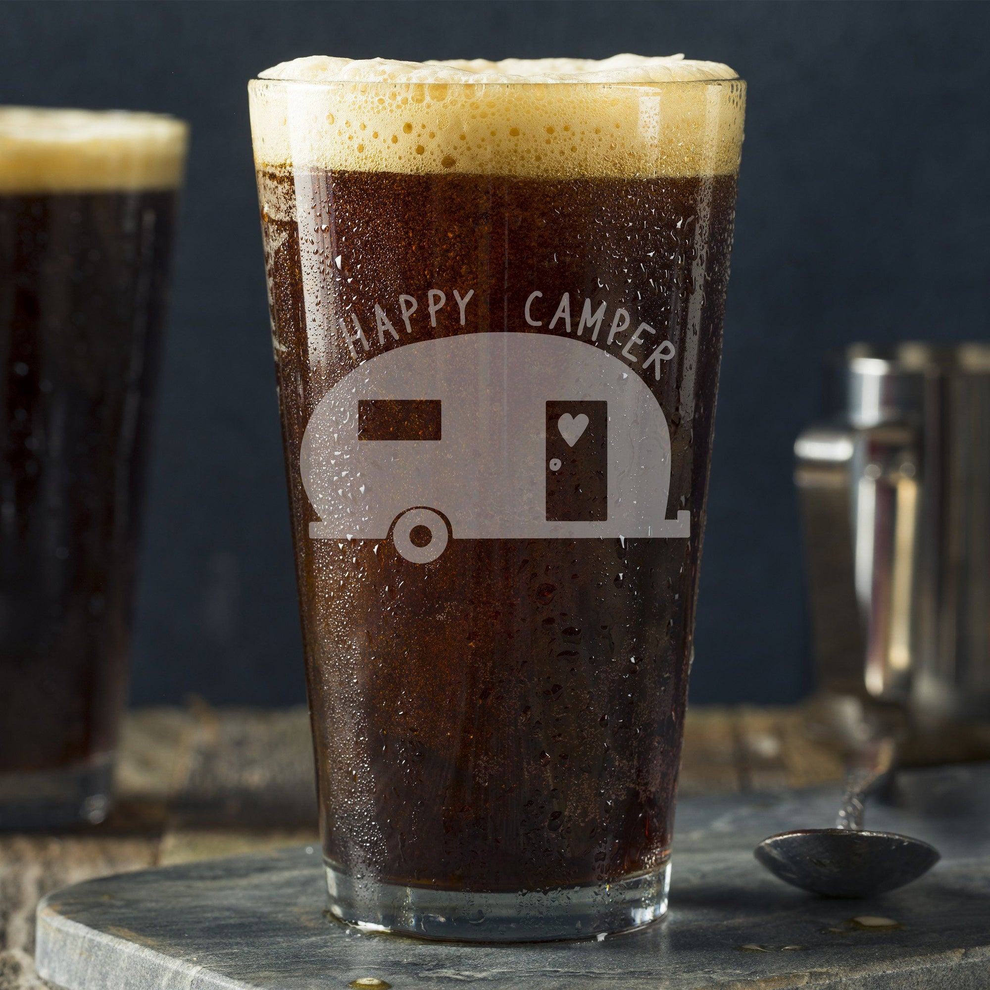 Happy Camper Pint Glass