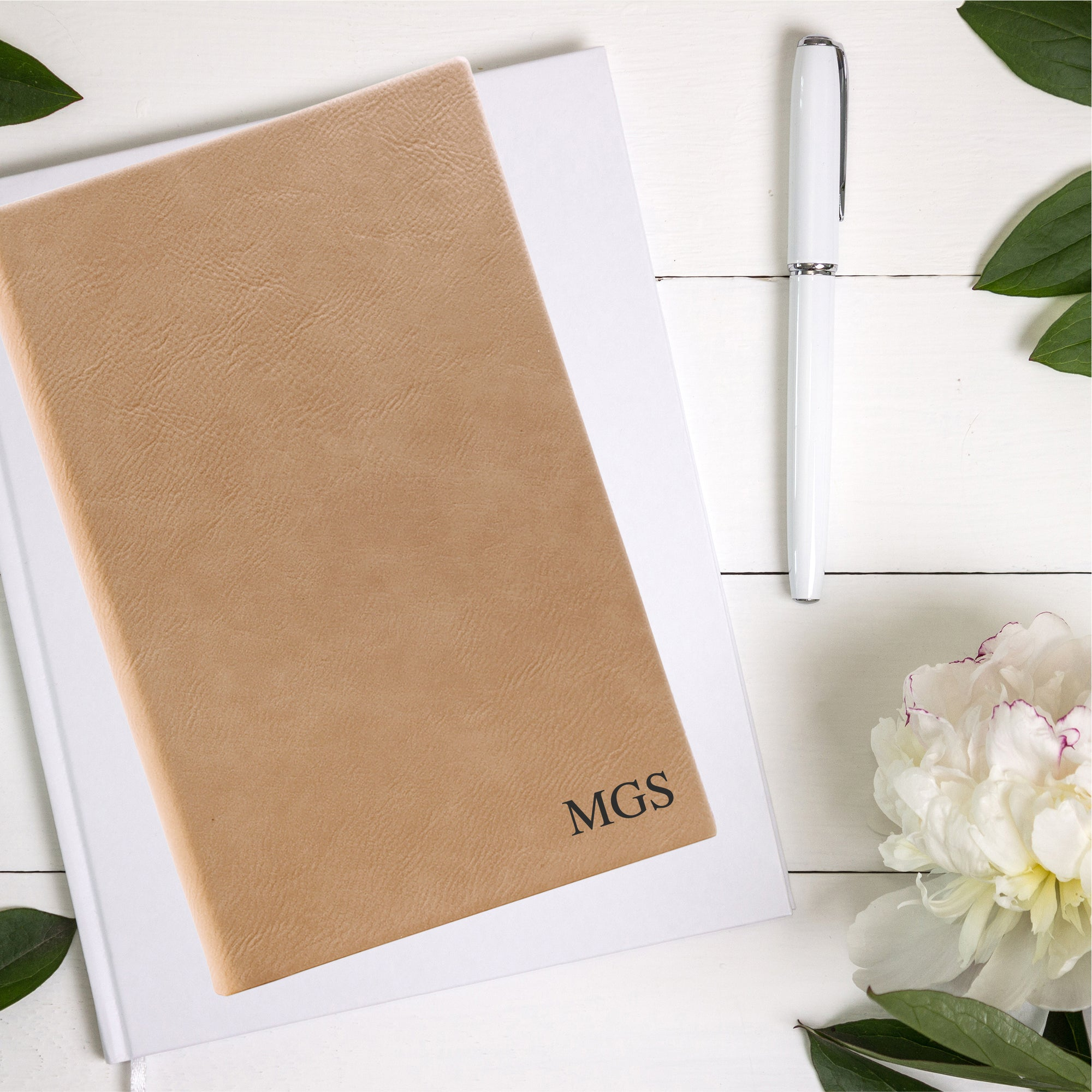 Monogramed Leatherette Journal