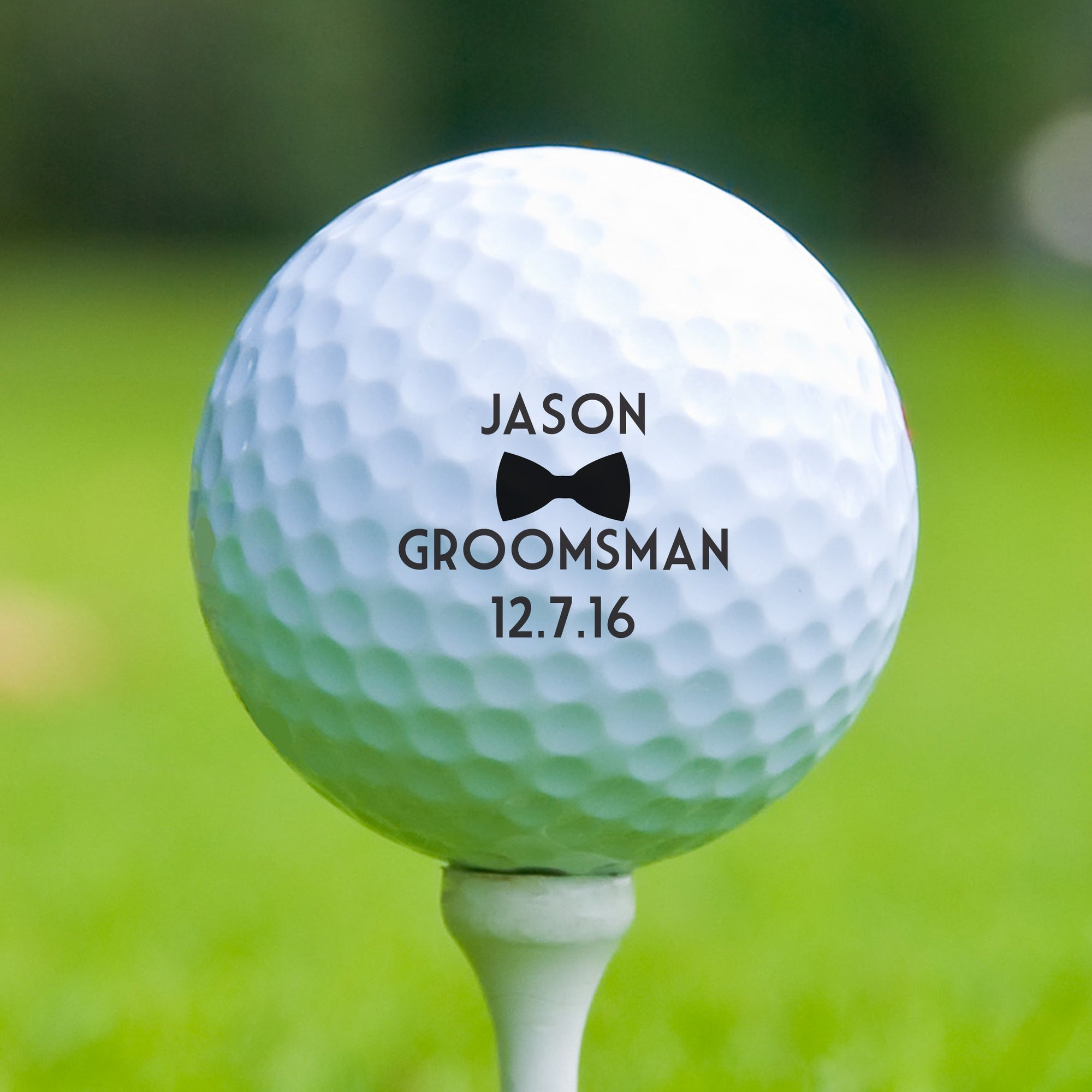 Personalized Groomsman Golf Ball