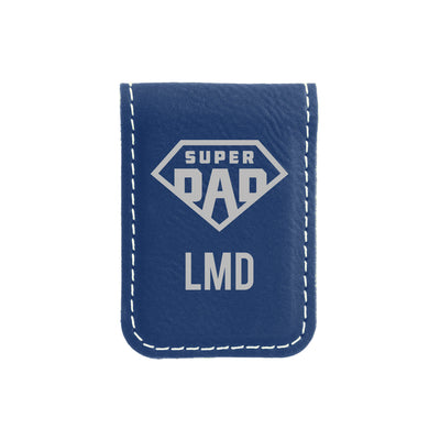 Super Dad Monogrammed Money Clip
